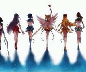 sailor moon, sailor pluto, and sailor venus image