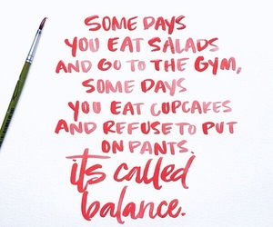 balance, fitness, and quotes image
