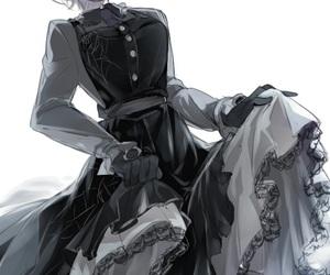 anime, black dress, and goth image
