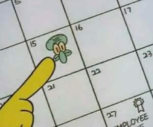 spongebob, squidward, and 15 image