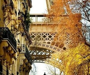 paris, autumn, and eiffel tower image