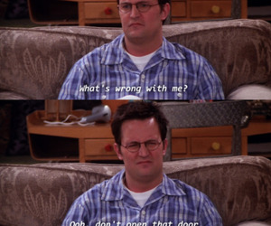 chandler, friends, and funny image
