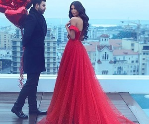 balloons, red, and dress image