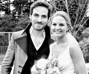 once upon a time, hook, and wedding image