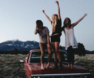 friends, friendship, and car image