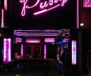club, strip club, and neon image