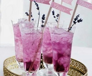 drink, cocktail, and lavender image