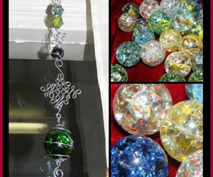 crafts, dollar store crafts, and marbles image