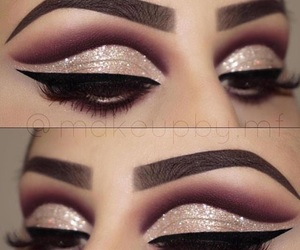 eyebrows, eyeliner, and makeup image