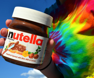 nutella, colorful, and food image