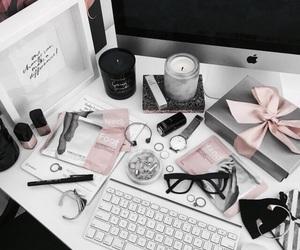 pink, theme, and gray image