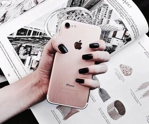 iphone, nails, and rose gold image