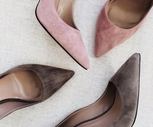 grey, pink, and high heels image