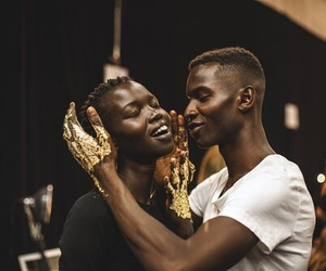 African, black, and black couples image