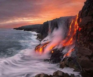 lava, nature, and ocean image