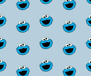 blue, cookie monster, and pattern image