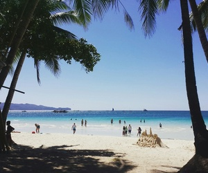 beach, boracay, and sea image