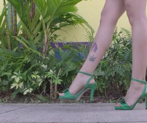 piernas, vintage, and verde image