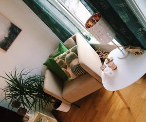 apartment, decor, and green image