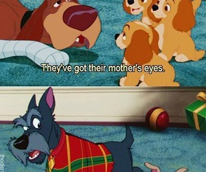 lady and the tramp, disney, and puppy image