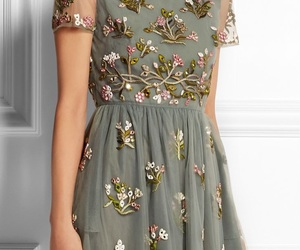 dress, spring, and flowers image