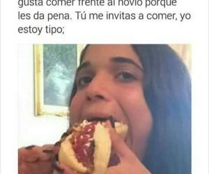 chicas, comer, and comida image