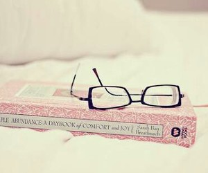 book, pastel, and glasses image