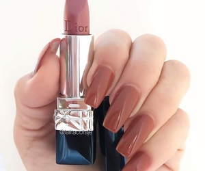 nails, girl, and lipstick image