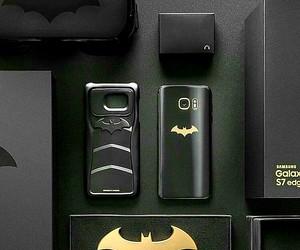 batman, black, and galaxy image