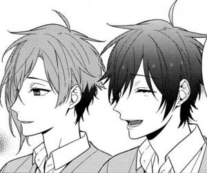boys, manga, and monochrome image
