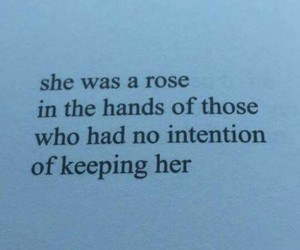 rose, she, and words image