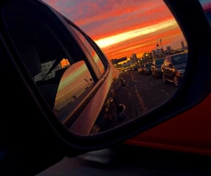 atardecer, auto, and beautiful image