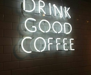 coffee, light, and neon image