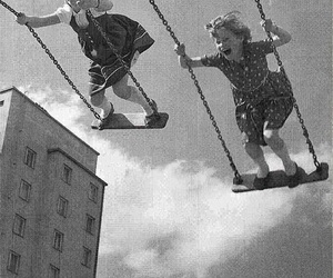 child, swing, and kids image