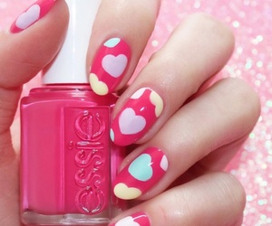 hearts, Valentine's Day, and nails image