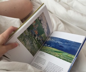 book, white, and art image