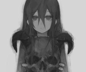 anime, anime girl, and black image