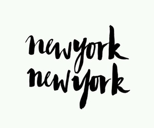 new york and words image