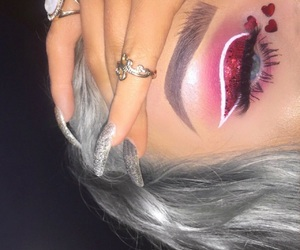 glitter, make up, and hearts image