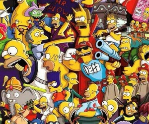 simpsons and wallpaper image