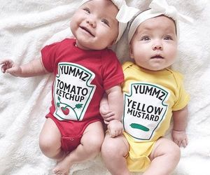 baby, cute, and ketchup image