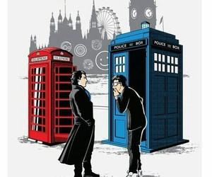 doctor who, sherlock, and david tennant image