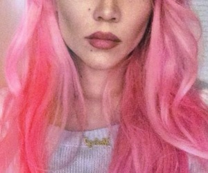 halsey, pink, and pink hair image