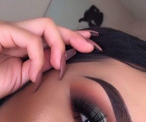 beauty, eye makeup, and nails image