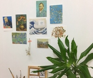 art, plants, and aesthetic image