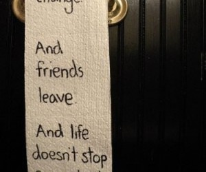 life, quote, and friends image