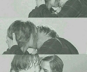 harry potter, love, and kiss image
