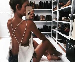 brunette, bun, and luxury image