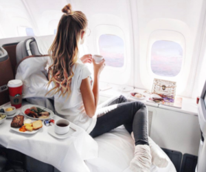 travel, luxury, and plane image
