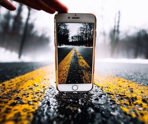 road, phone, and photo image